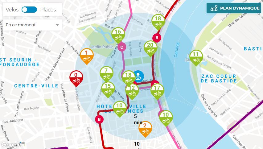 Carte Tbm Bordeaux.Tbm Interactive Map Interactive Bus And Tram Map For Bordeaux